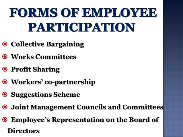 forms of employee participation