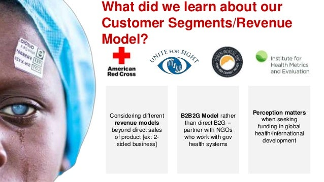 What did we learn about our Customer Segments/Revenue Model? Considering different revenue models beyond direct sales of p...