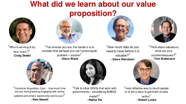 """What did we learn about our value proposition? """"Who is winning & by how much ?"""" ~Craig Seidel """"The smarter you are, the ha..."""