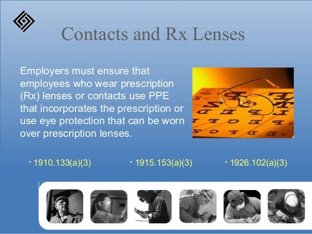 0332855765 ... 9. Contacts and Rx Lenses Employers must ensure that employees who wear  prescription ...