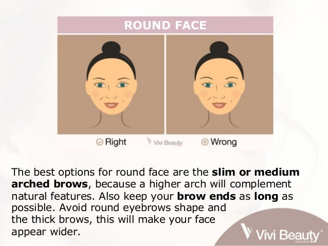 eyebrow shaping for face shape. 3. round face eyebrow shaping for face shape