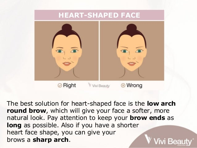 Choose the right eyebrow shape that suits your face shape