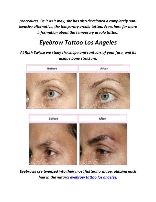 Ruth Swissa Permanent Eyebrow Tattoo In Los Angeles