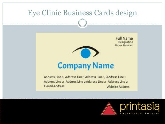 Eye clinic visiting cards | Visiting cards design online eye clinic