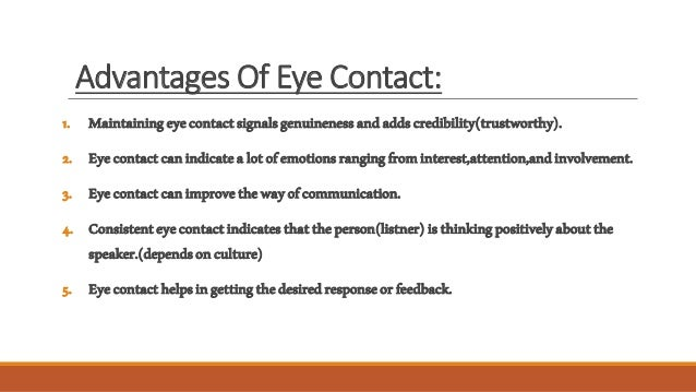 Eye contact in communication essay topic
