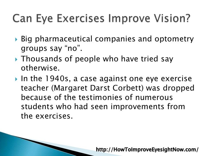 Eye Exercises To Improve Vision Naturally Free