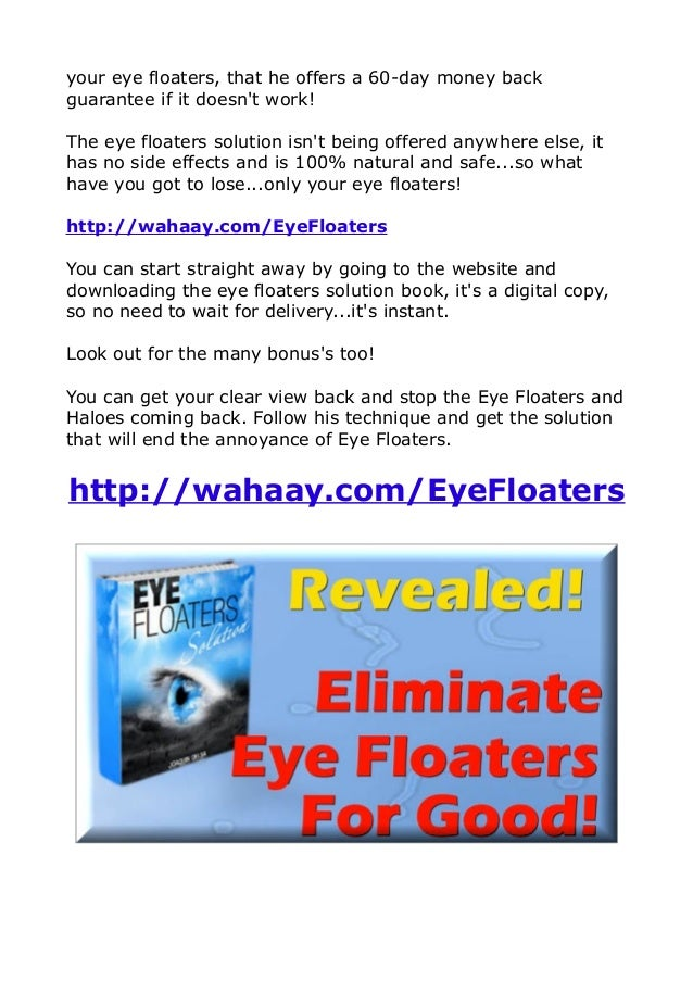Clear Eye Floaters Naturally