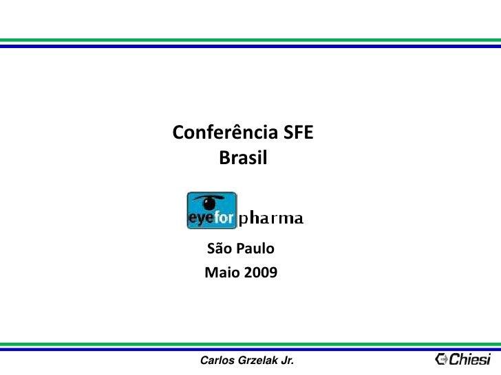 Conferência SFEBrasil<br />São Paulo<br />Maio 2009<br />