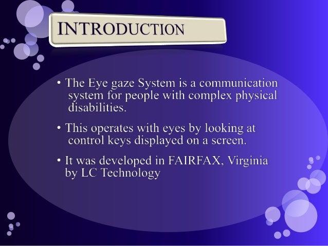 Eye gaze Slide 3