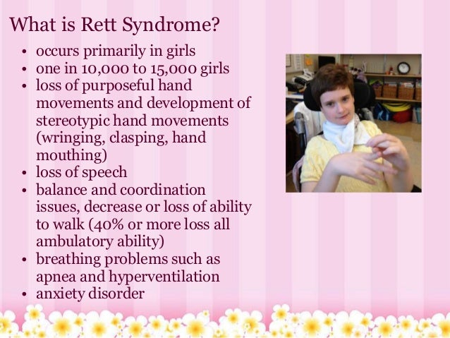 "rett syndrome essay Parent-approved resources for rett families find your state rett syndrome handbook called the ""rett syndrome bible"", all the information you need for your journey- available in pdf version purchase a hard copy  get 1:1 support connect with our family empowerment team, join a special interest network."