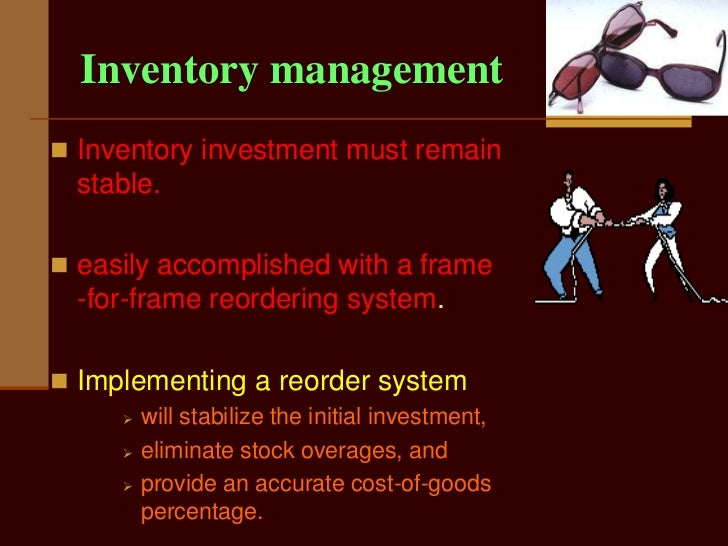 Eyeglass Frame Inventory Management : Eyeglass frames
