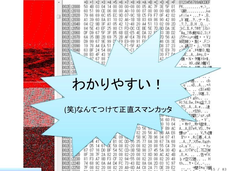 わかりやすい!(笑)なんてつけて正直スマンカッタ                    15 / 83