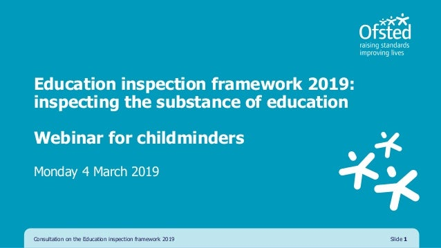 Early Years EIF 2019 consultation presentation childminder
