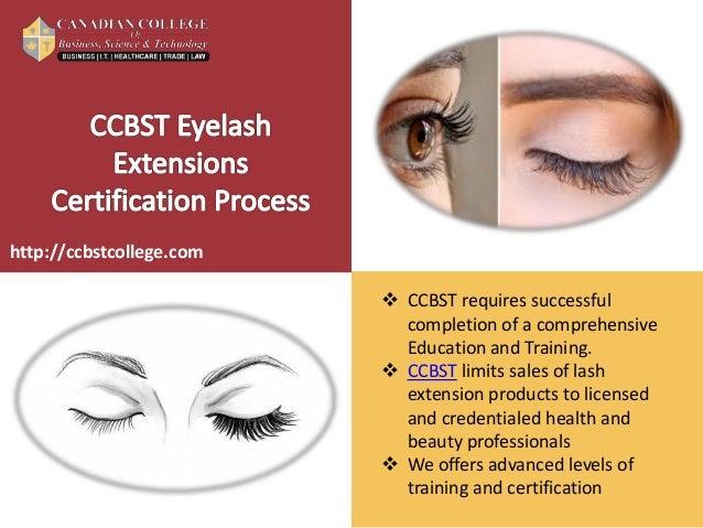 Eyelash Extension Certification Training - CCBST