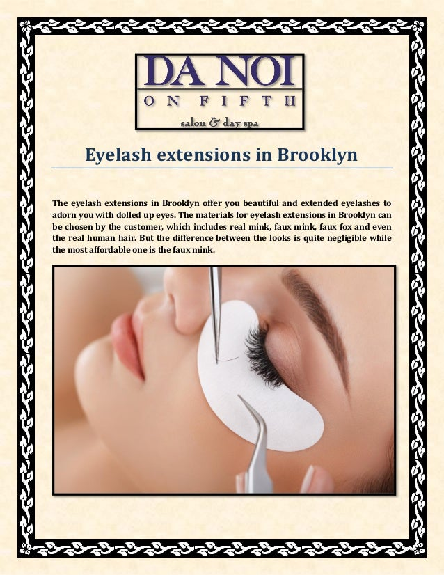 Eyelash Extensions In Brooklyn At Danoionfifthnyc