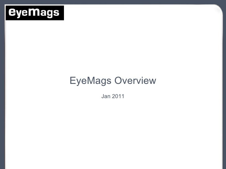 EyeMags App Factory Overview