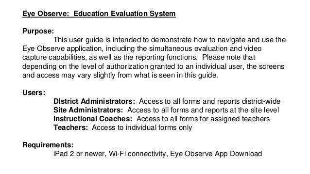 eye observe user guide rh slideshare net User Guide Template User Guide Icon
