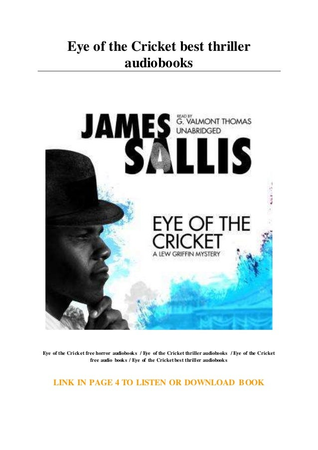 ,James Sallis A Lew Griffin novel Eye of the Cricket