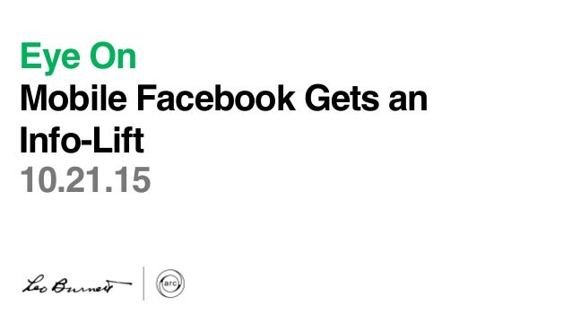 Eye On Mobile Facebook Gets an Info-Lift   10.21.15