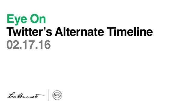 Eye On Twitter's Alternate Timeline 02.17.16