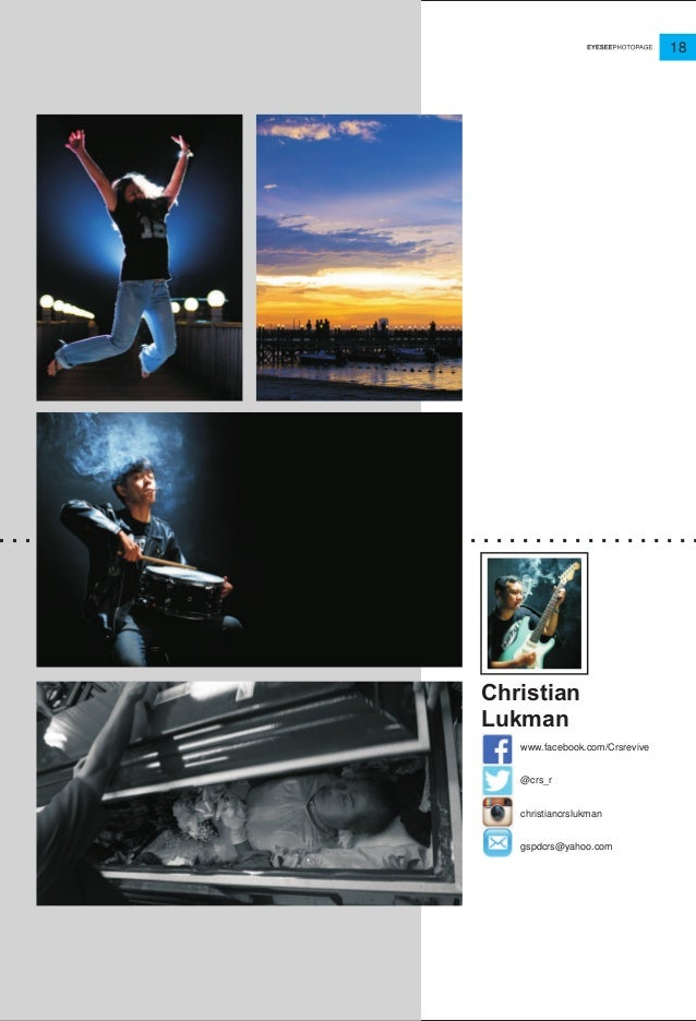 18 www.facebook.com/Crsrevive @crs_r christiancrslukman gspdcrs@yahoo.com Christian Lukman