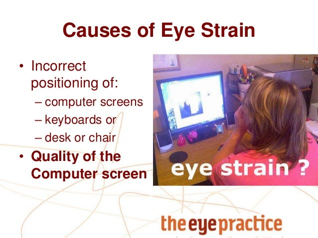 eye strain and computer vision syndrome