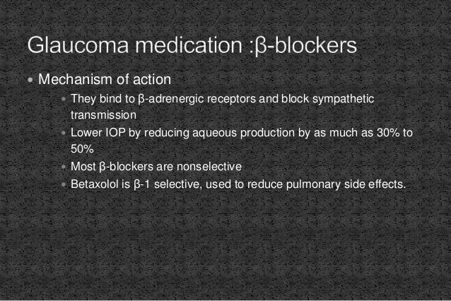  Mechanism of action  They reduce the IOP by increasing the osmolality of the intravascular fluid  As blood barrier pre...