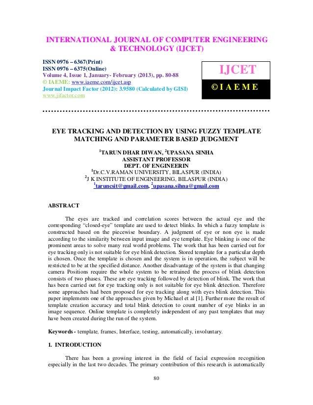INTERNATIONALComputer VolumeOF COMPUTER ENGINEERING  International Journal of              Engineering and Technology (IJC...