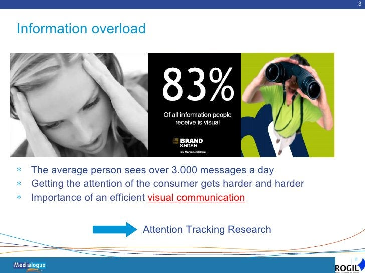 Information overload <ul><li>The average person sees over 3.000 messages a day  </li></ul><ul><li>Getting the attention of...