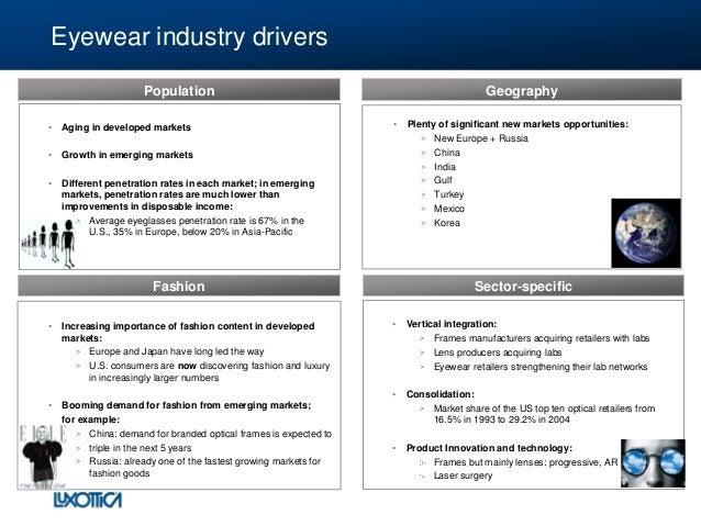 eyewear industry overview by luxottica 2010