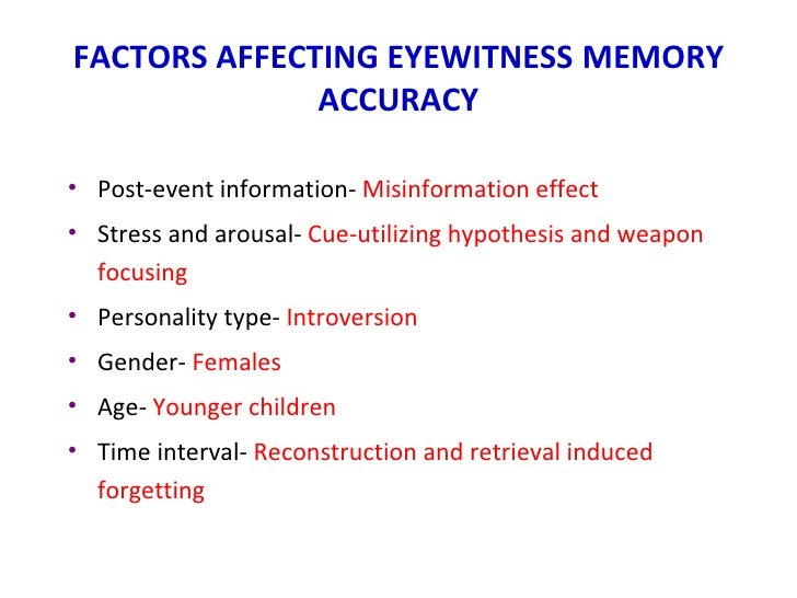 eyewitness memory Enhancing older adult eyewitness memory with the cognitive interview applied cognitive psychology, 10, 403–417.