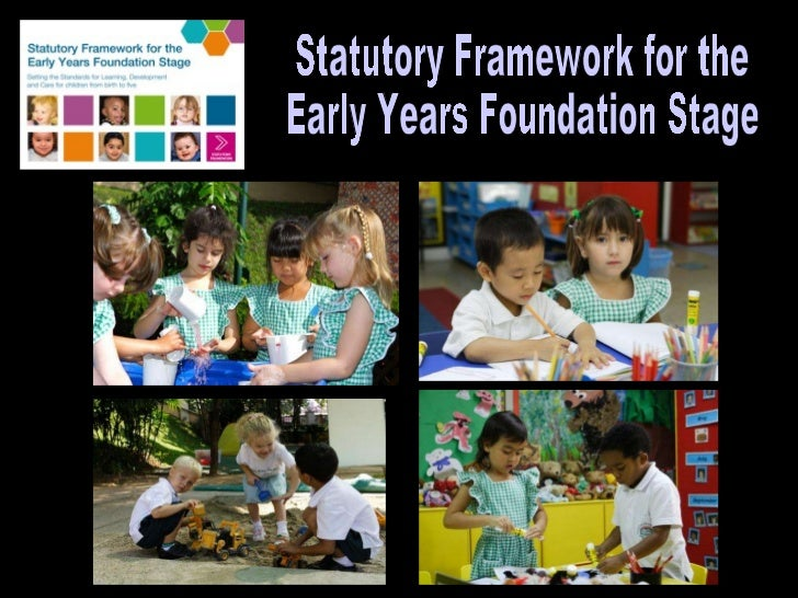 early years foundation stage Early years foundation stage (eyfs) characteristics of effective learning run through and underpin all seven areas of learning and development, representing processes rather than outcomes the ways in which a child engages with other people and their environment .
