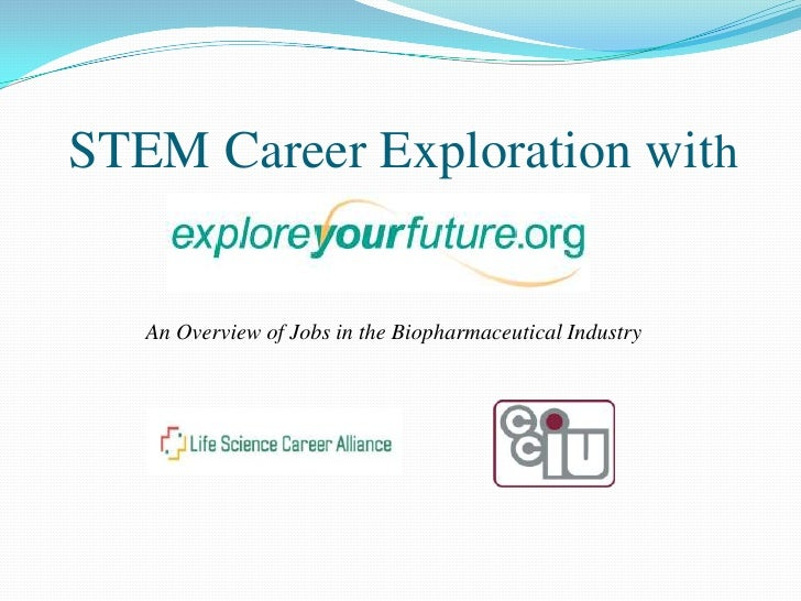 STEM Career Exploration with<br />An Overview of Jobs in the Biopharmaceutical Industry<br />