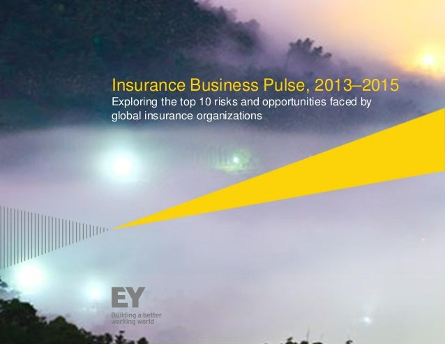 1 Insurance Business Pulse, 2013–2015 Exploring the top 10 risks and opportunities faced by global insurance organizations