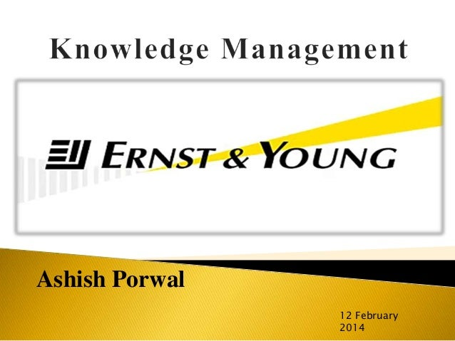 Knowledge Management at Ernst & Young Case Solution & Analysis