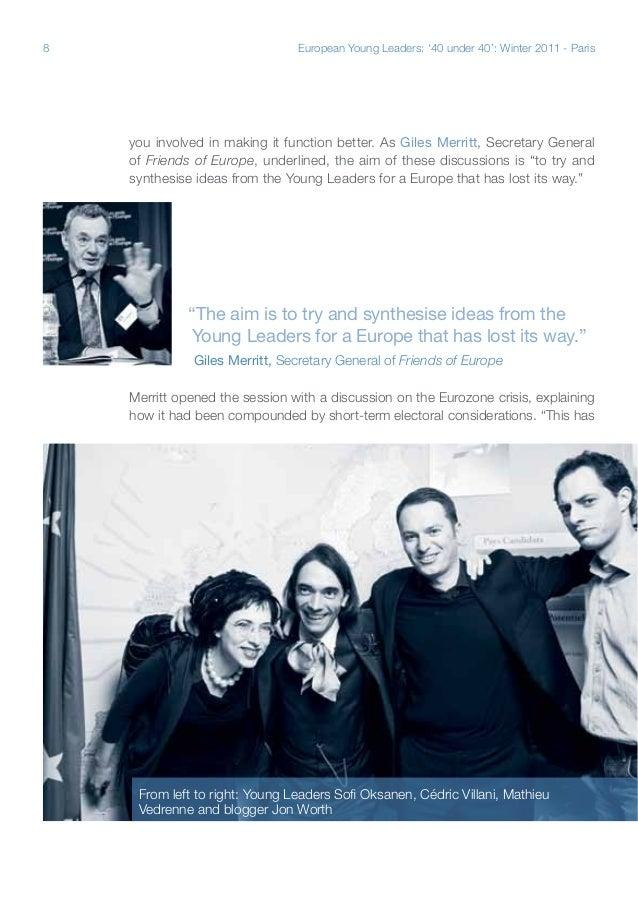 Paris Seminar - European Young Leaders \
