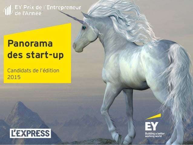 Panorama des start-up Candidats de l'édition 2015