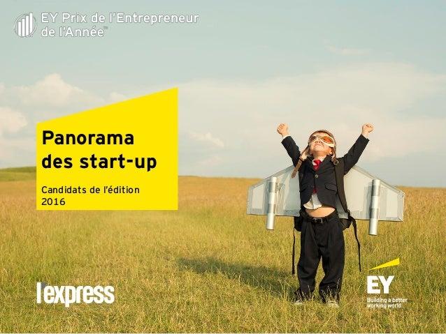 Panorama des start-up Candidats de l'édition 2016