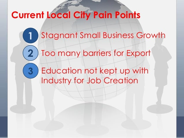 Education not kept up with Industry for Job Creation Current Local City Pain Points Stagnant Small Business Growth Too man...