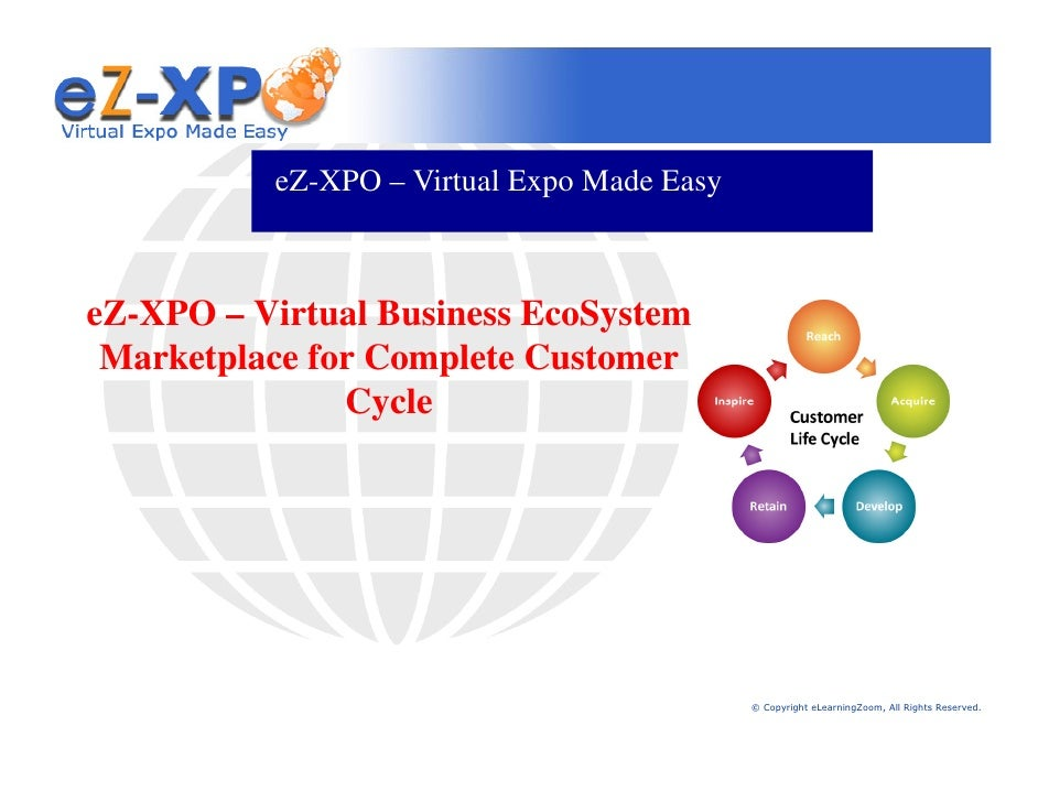 eZ-XPO – Virtual Expo Made Easy    eZ-XPO – Virtual Business EcoSystem  Marketplace for Complete Customer                C...