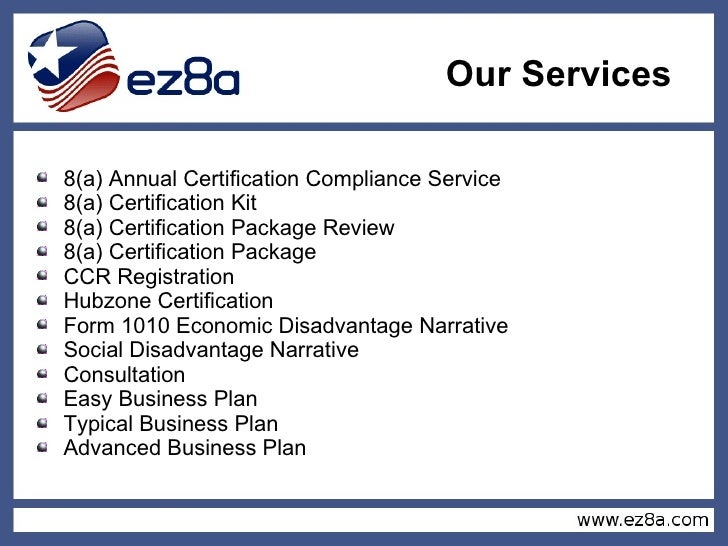 ez8a - SBA 8(a) certification specialists
