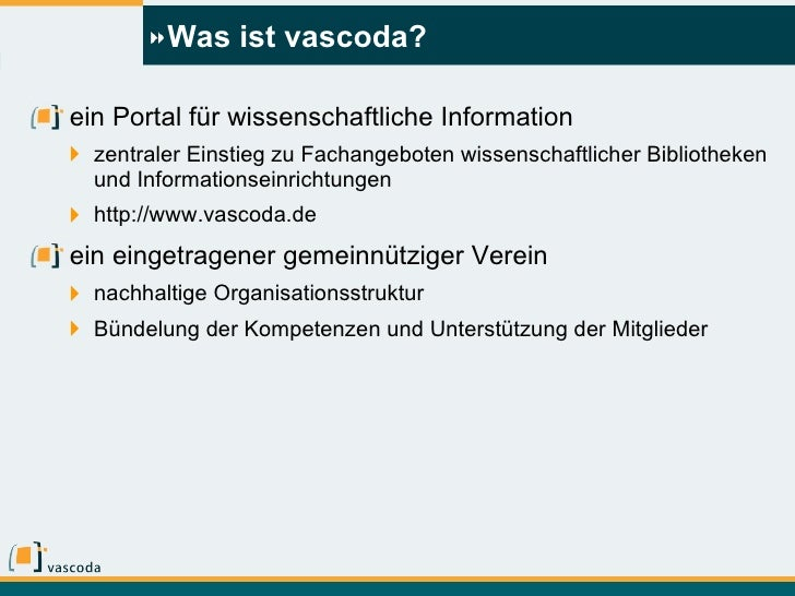 vascoda und die Fachportale - Entwicklungen und Perspektiven Slide 2