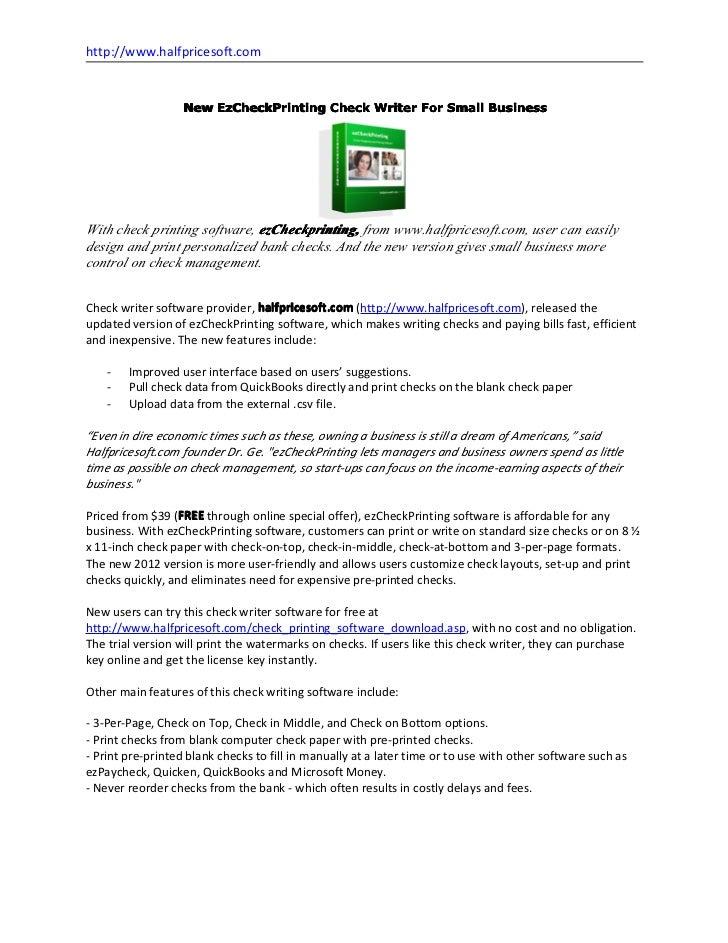 ez check printing license key software