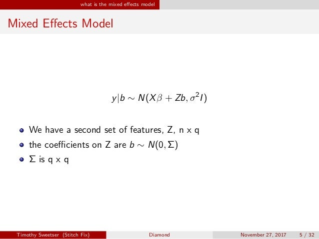Diamond mixed effects models in Python