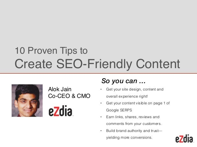 ! • Get your site design, content and overall experience right! • Get your content visible on page 1 of Google SERPS • Ear...