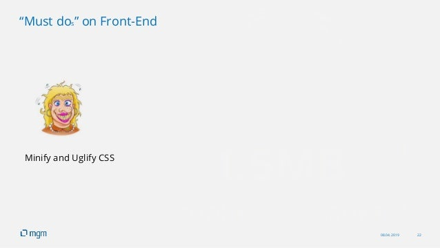 """08.04.2019 22 """"Must dos"""" on Front-End Minify and Uglify CSS"""