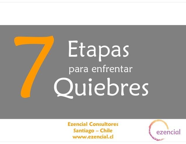 7  Etapas para enfrentar  Quiebres Ezencial Consultores Santiago – Chile www.ezencial.cl