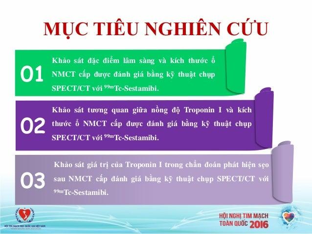 MỤC TIÊU NGHIÊN CỨU 01 02 03 Khảo sát đặc điểm lâm sàng và kích thước ổ NMCT cấp được đánh giá bằng kỹ thuật chụp SPECT/CT...