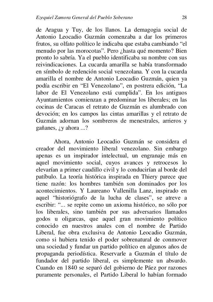 Ezequiel zamora general pueblo soberano - Fundar un partido politico ...