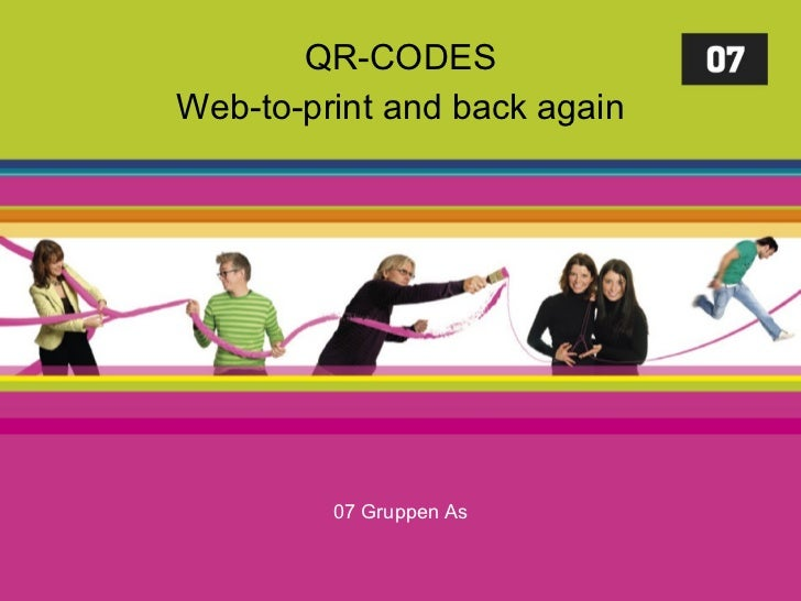 QR-CODES Web-to-print and back again 07 Gruppen As
